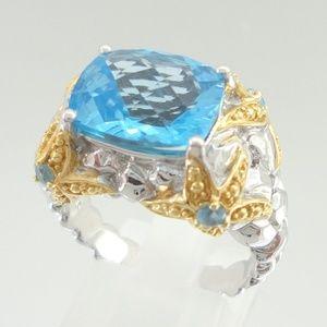 VICTORIA WIECK Sterling Starfish Blue Topaz Ring